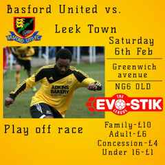 Its a big game Sat as Playoff chasing Leek Town come to Greenwich Avenue
