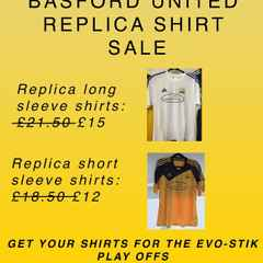 Spring Sales for Your Basford Shirts for the Playoffs & cup final