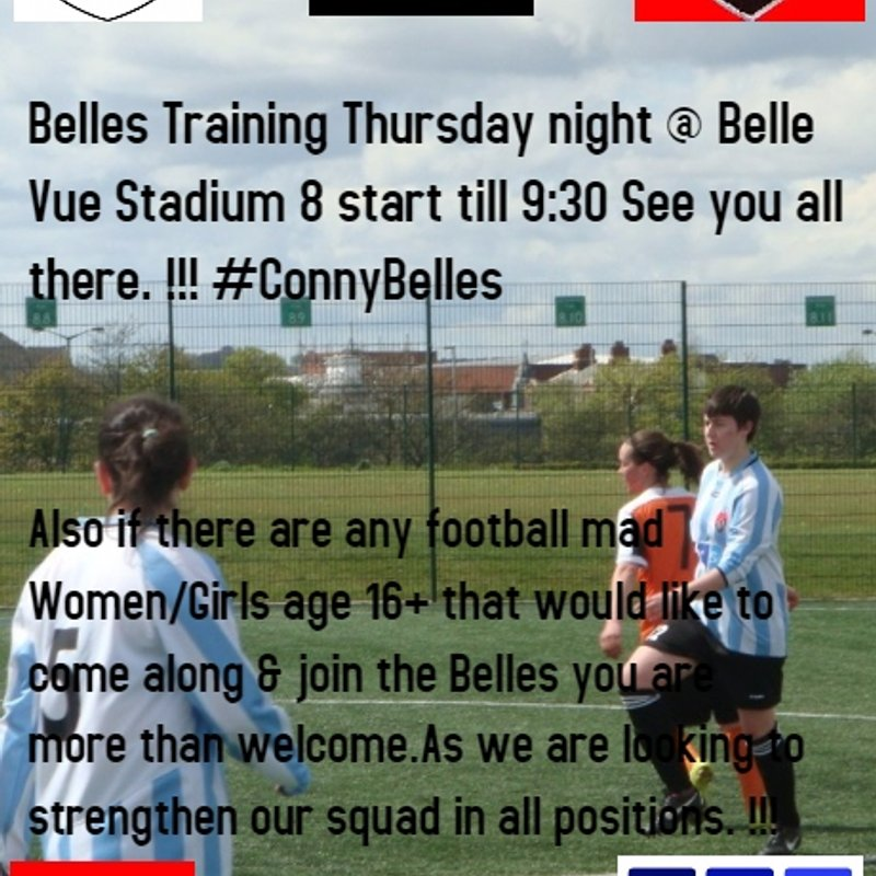 BELLES TRAINING THURSDAY !!!