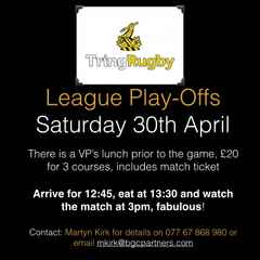 Tring into the PlayOffs - 30th April 2016 (plus VIP Lunch)