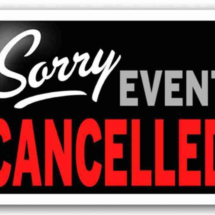 All Matches and Training CANCELLED at Cow Lane Sunday 22nd January