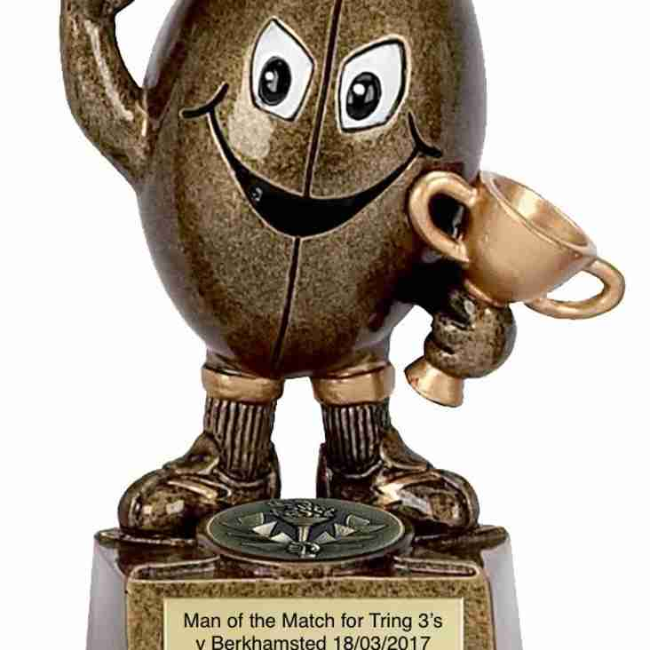 Man of the Match away v Berkhamsted goes to...