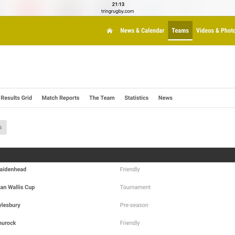 First Games of the Season - Friendly v Maidenhead