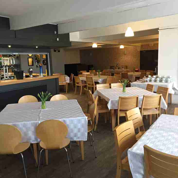 Hospitality available for 1st Team Games