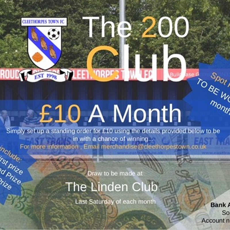 200 Club open for January