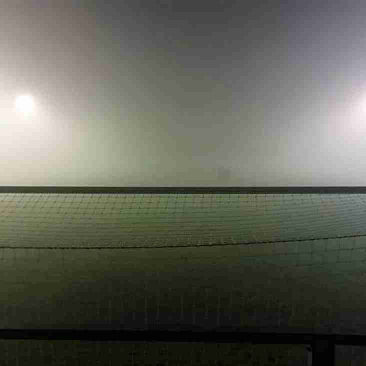 Fog forces fixture's abandonment