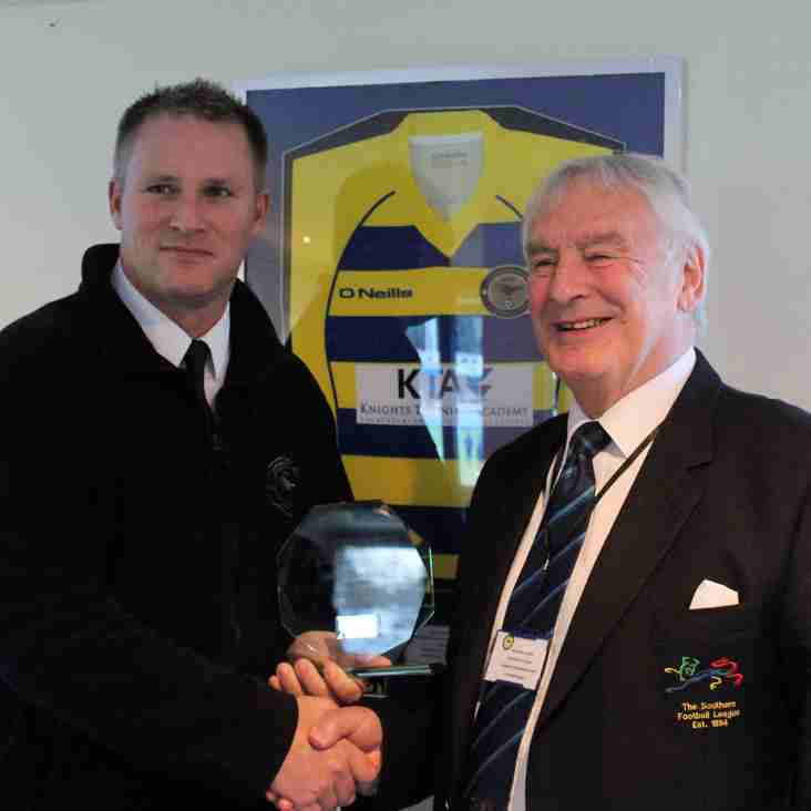 Award from chairman before big win