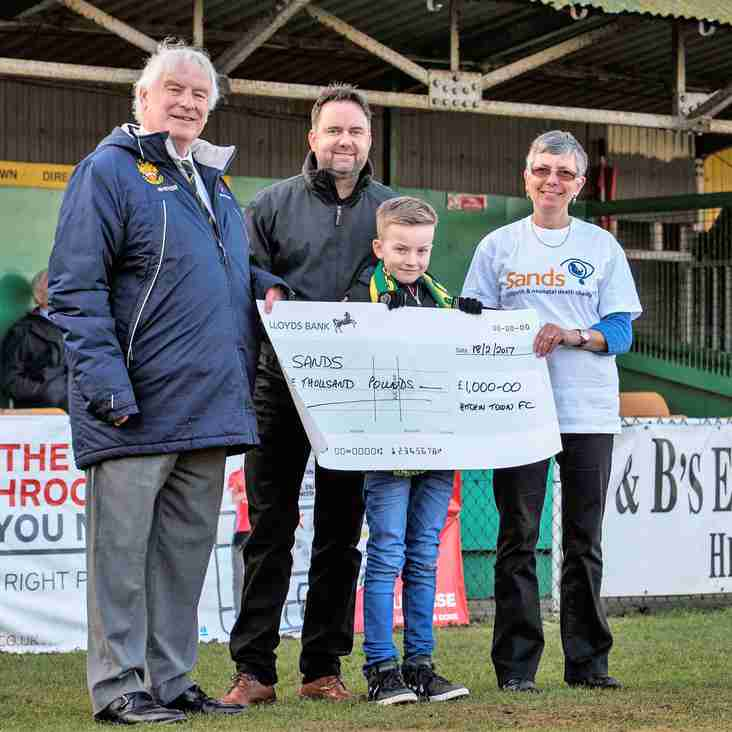 Sponsors top up donation from fans