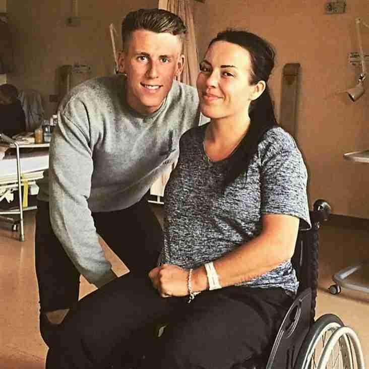 Fans dig deep for striker's sister