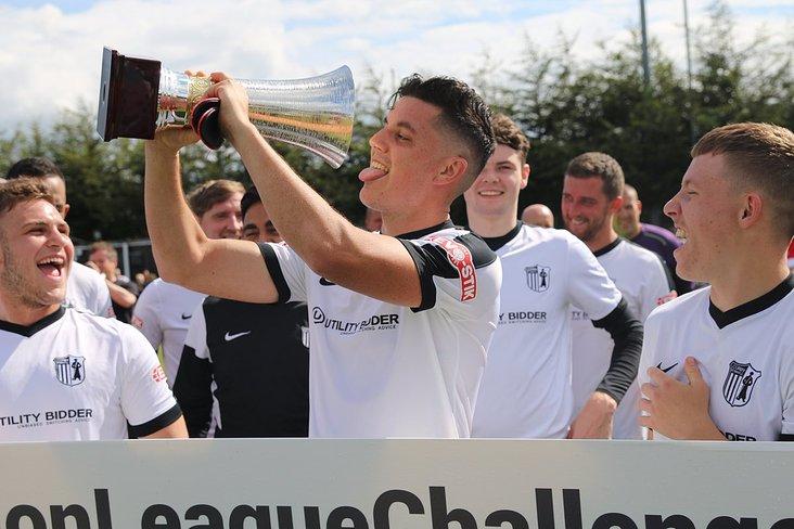 Champions: The Steelmen ran out 6-1 winners