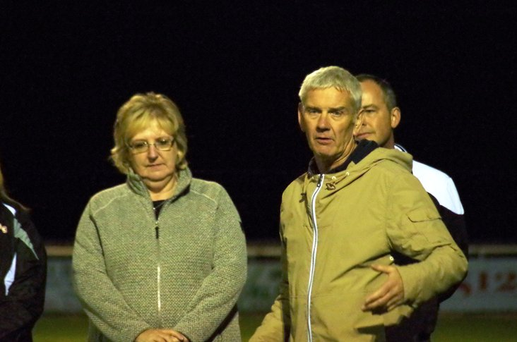 Proud parents: Gillian and Barry Wilkinson at their son's memorial match