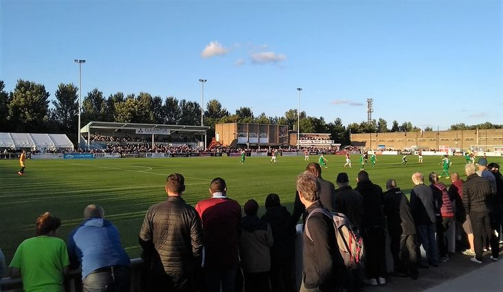 Bumper: Some of the 1,776 fans at Mariners Park on Tuesday night