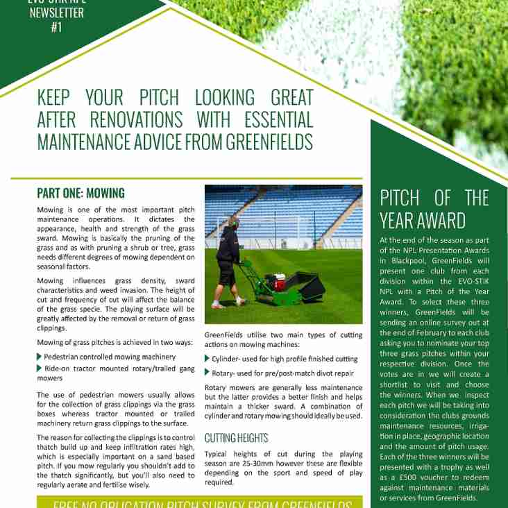 Pitch partners to reward turf stars!