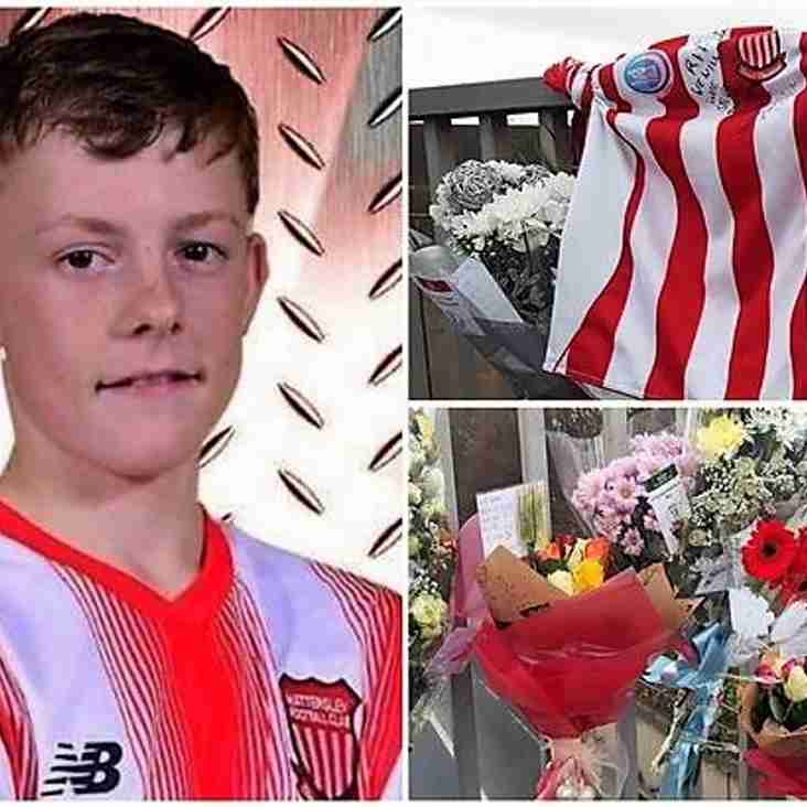 Tragic teen remembered at match