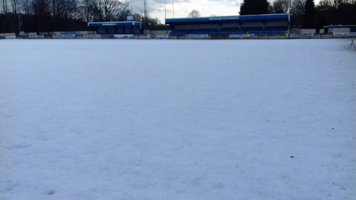 Snowbound: United's pitch on Monday