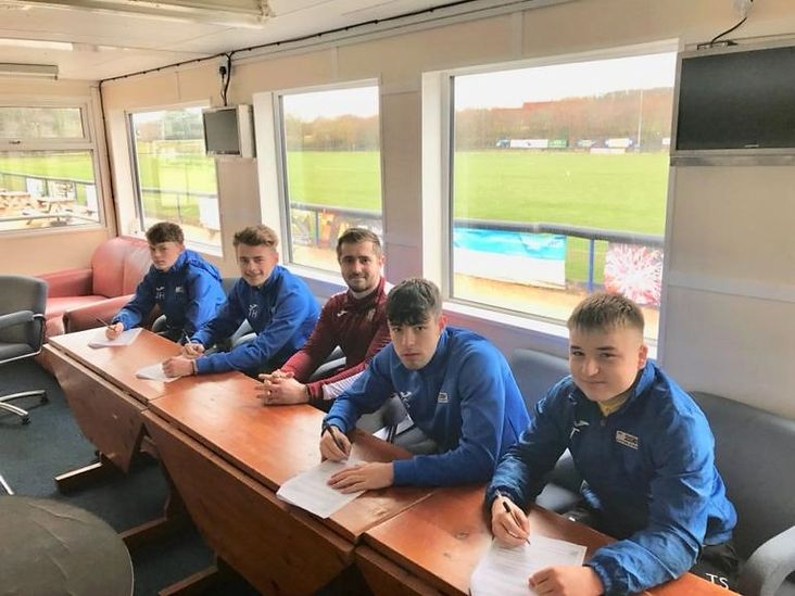 Sign here: Carlton Town's students put pen to paper