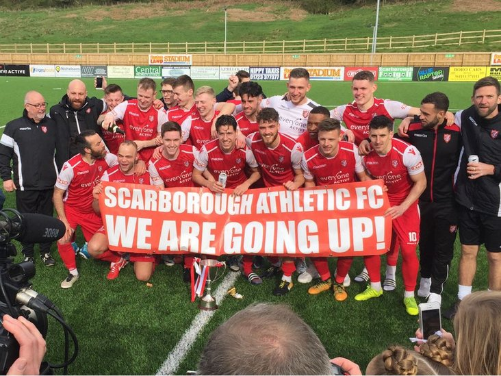 The banner says it all: Runners-up Scarborough Athletic