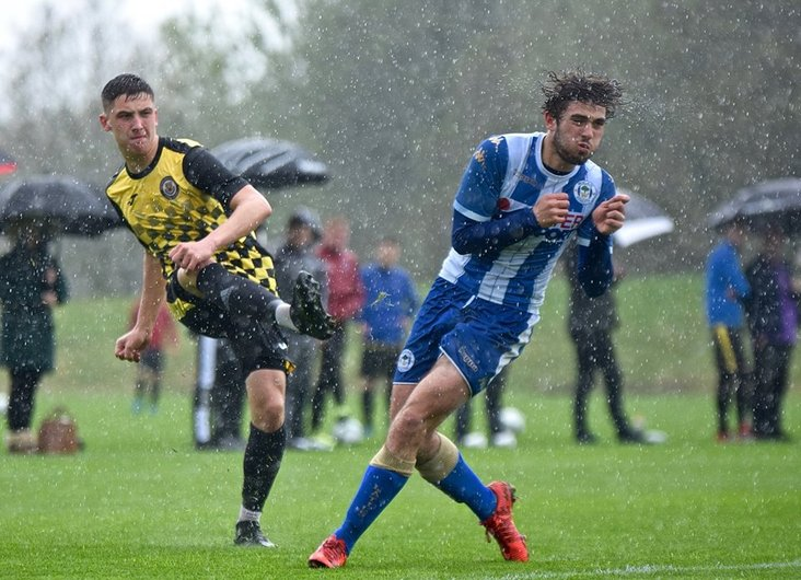 Deluge: The fixture went ahead despite heavy rain