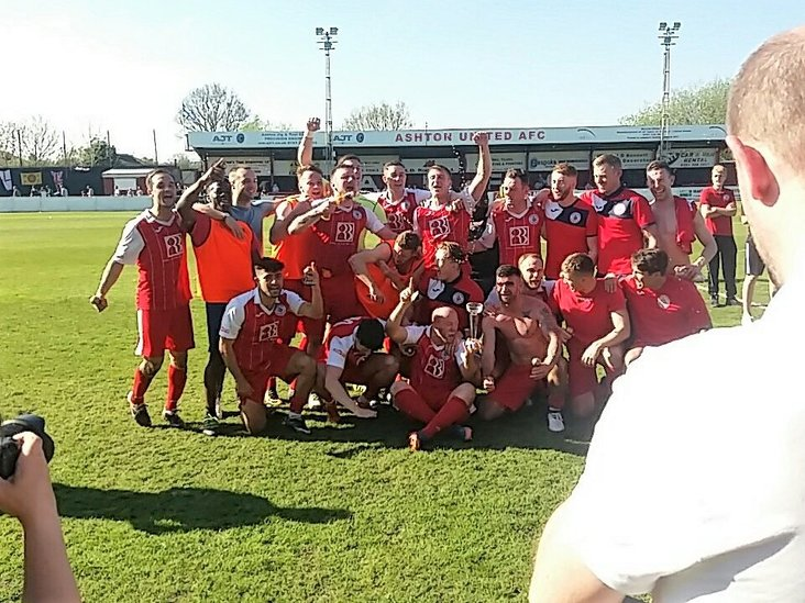 Captured on camera: 2018 Premier Division play-off winners Ashton United