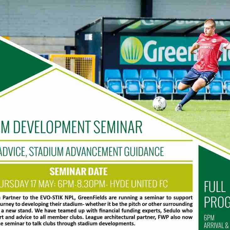 Nine clubs set for stadium seminar