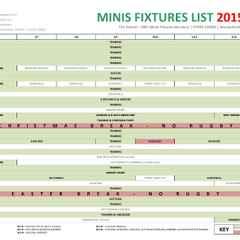 LRFC MINIS FIXTURES 2015/2016
