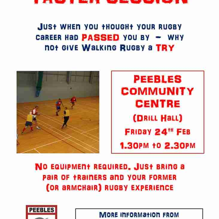 Come along and give Walking Rugby a TRY