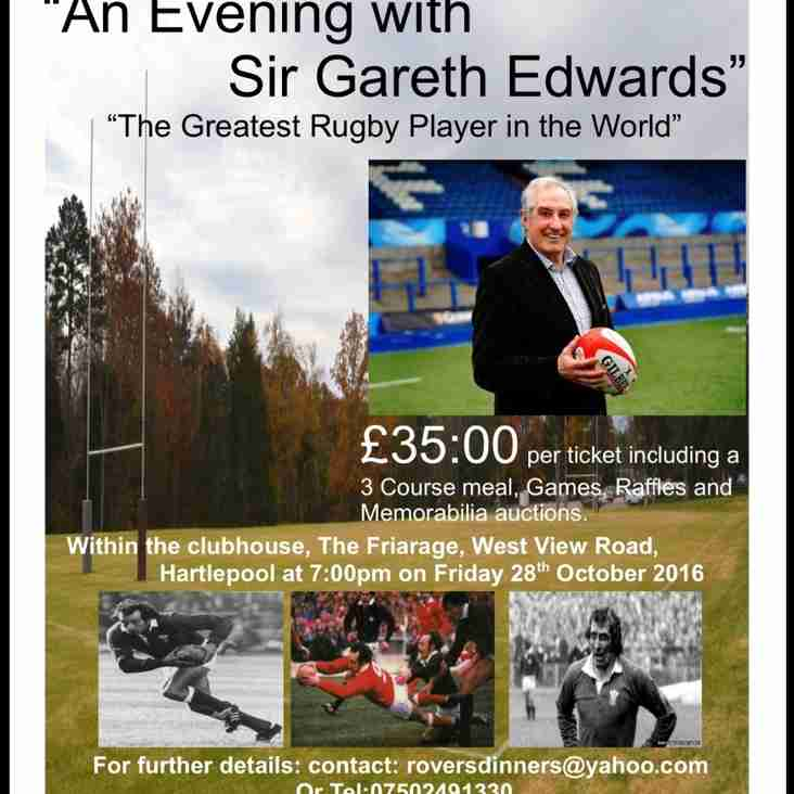 Sir Gareth Edwards Dinner