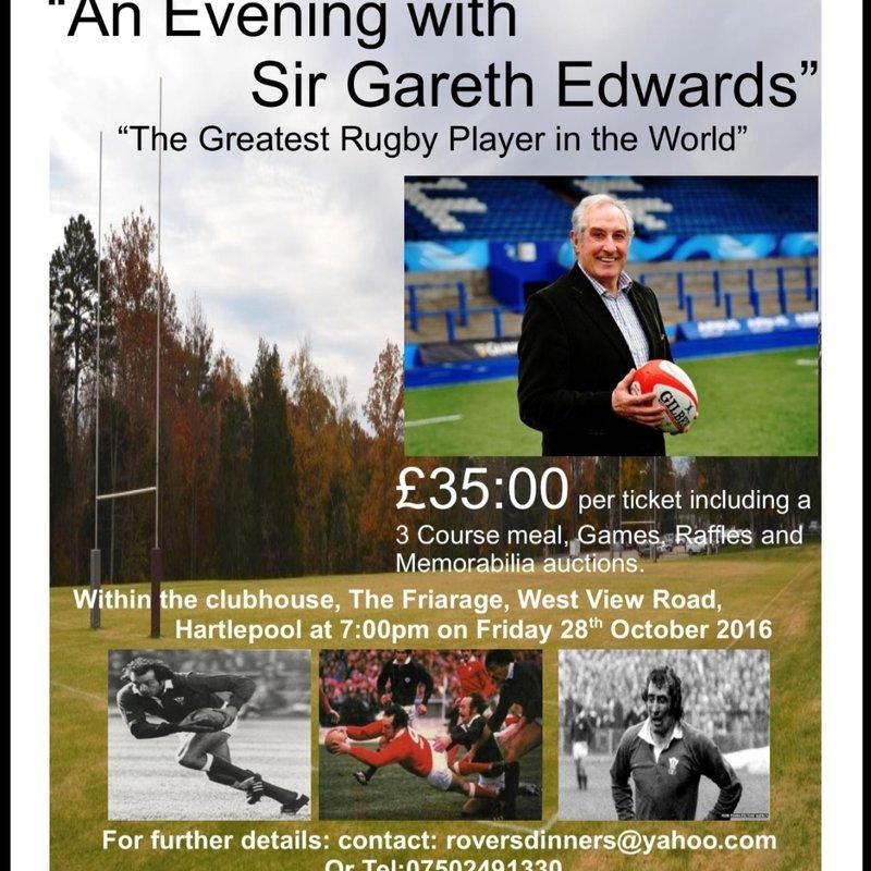 Sir Gareth Edwards Dinner