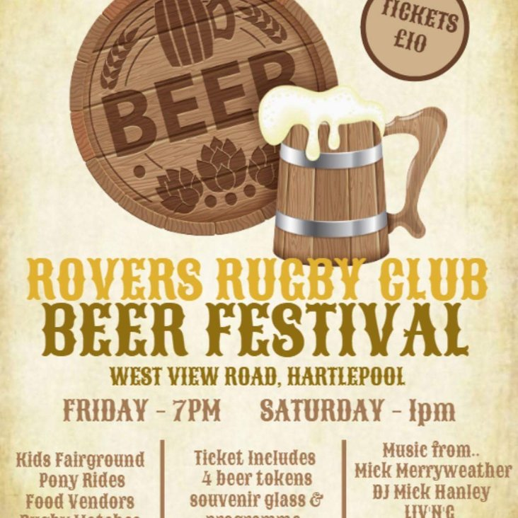 Hartlepool Rovers Beer Festival 2018 – 27th &amp; 28th July<