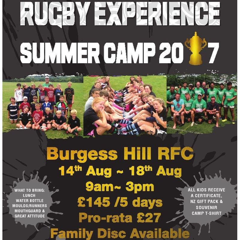 New Zealand Rugby Experience Summer Camp 2017