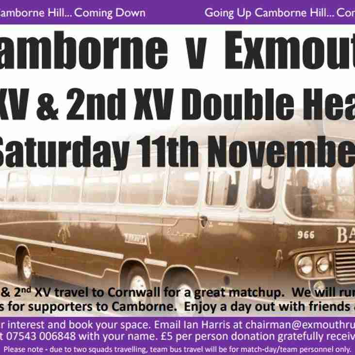 Supporters BUS for Camborne
