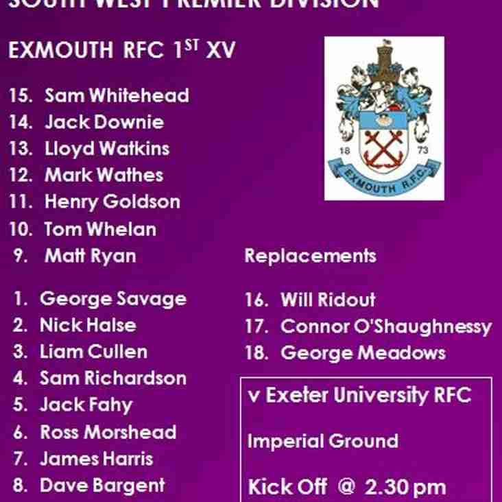 1st XV v Exeter University RFC