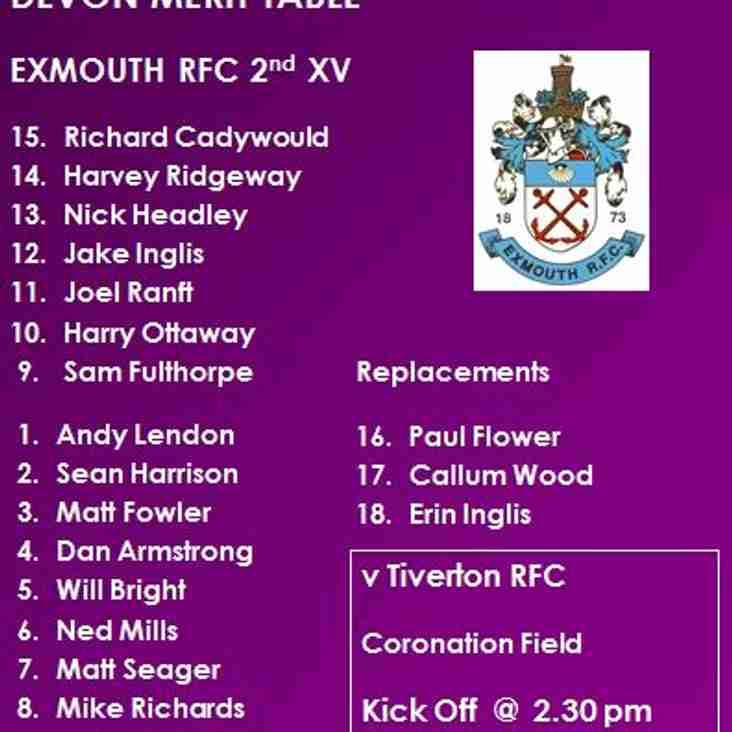 2nd XV v Tiverton RFC