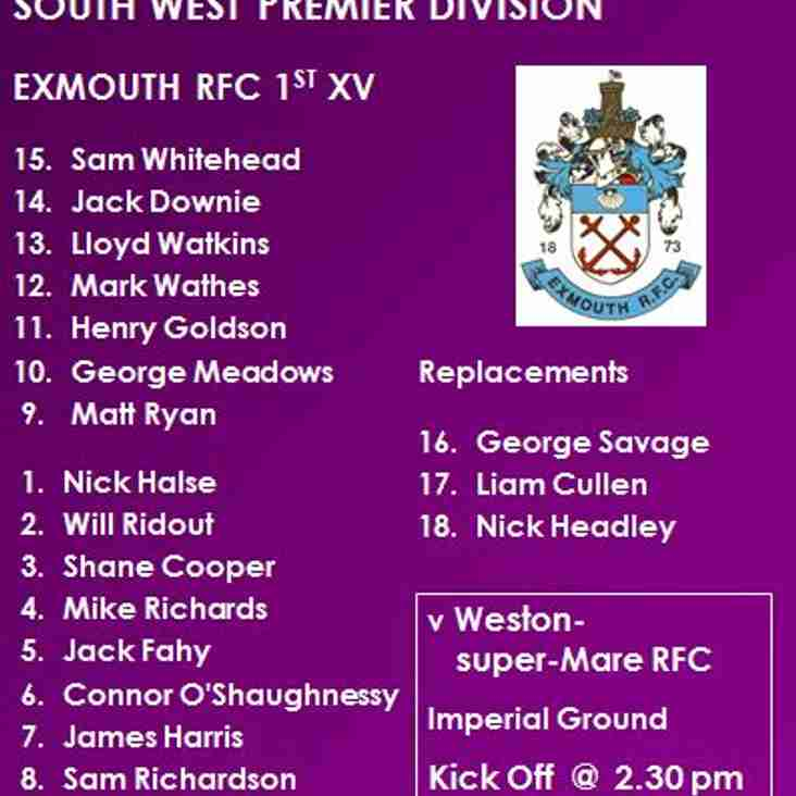 1st XV v Weston-super-Mare RFC