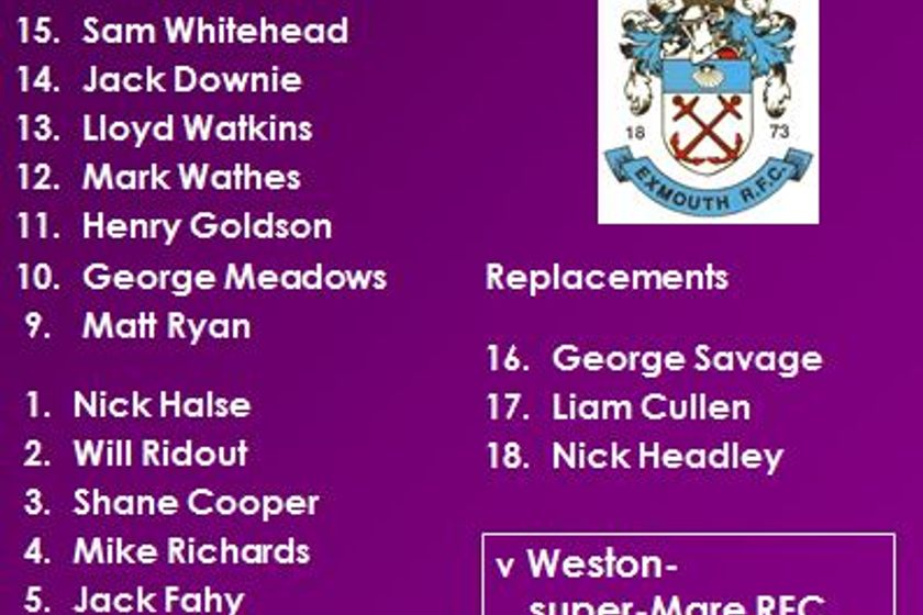1st XV v Weston-super-Mare RFC