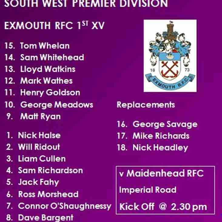 1st XV v Maidenhead RFC
