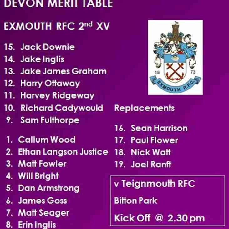 2nd XV v Teignmouth RFC