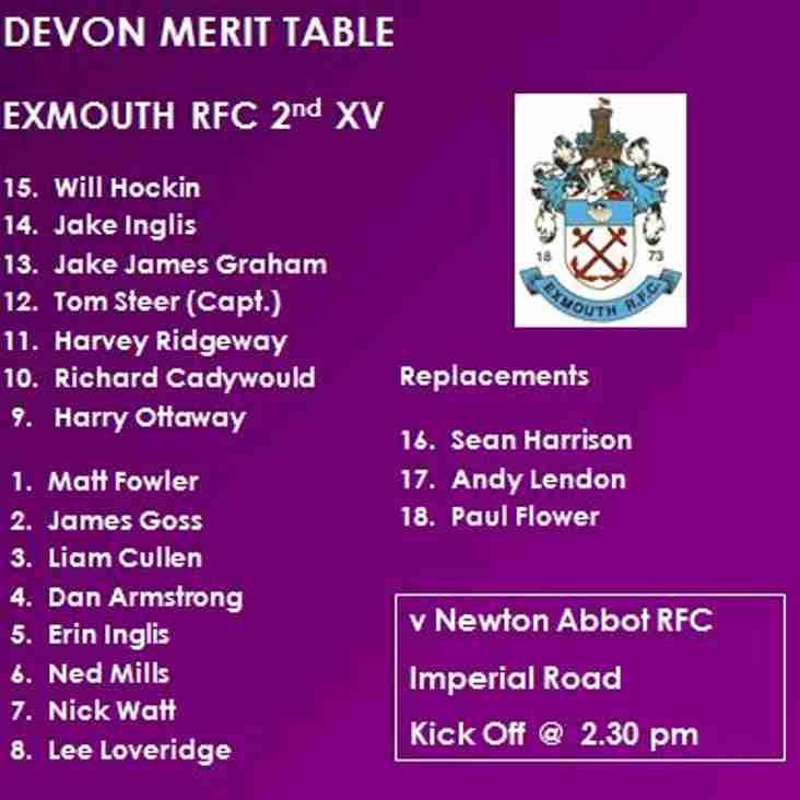 2nd XV v Newton Abbot 2nd XV