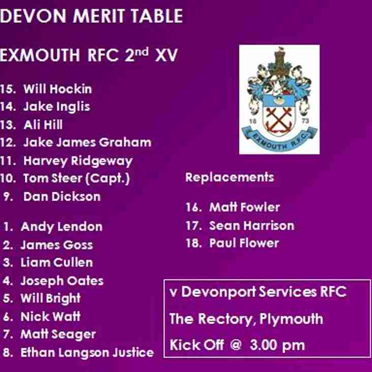 2nd XV v Devonport Services 2nd XV