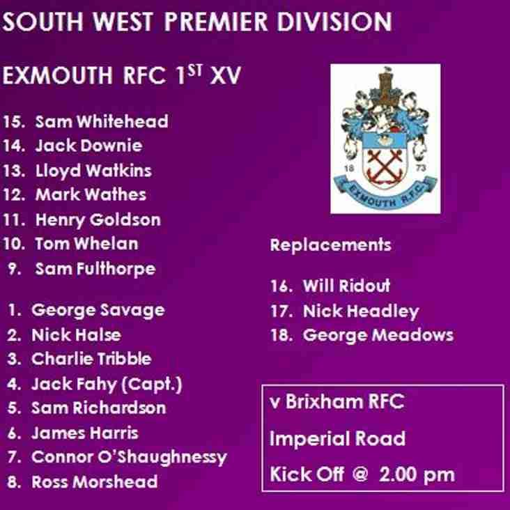 1st XV v Brixham RFC