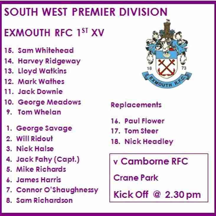 1st XV v Camborne RFC