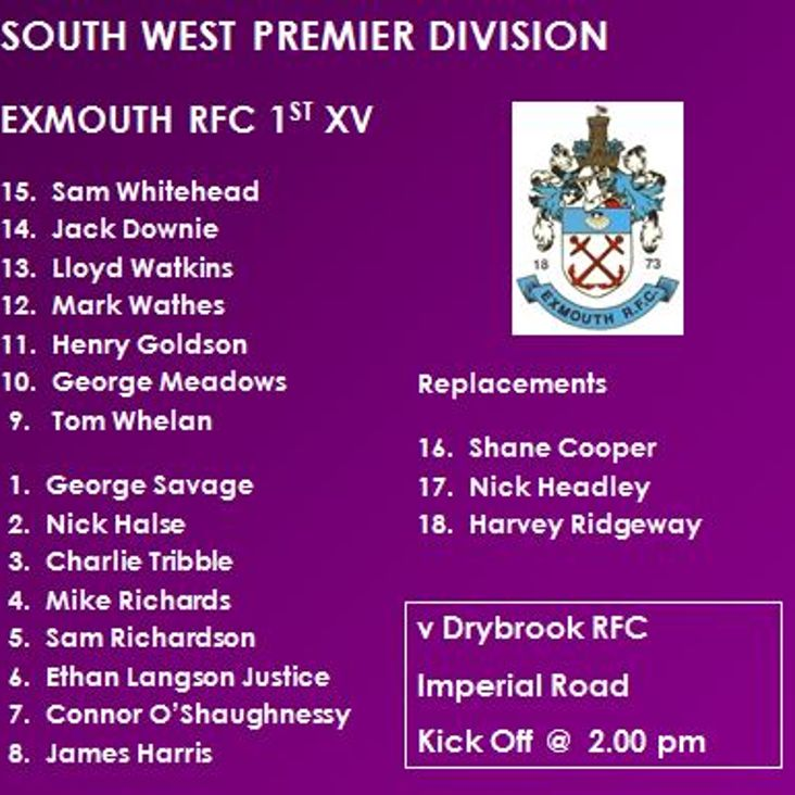 1st XV v Drybrook RFC<