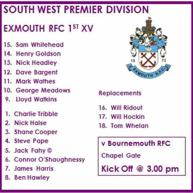 1st XV v Bournemouth RFC