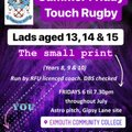 Touch Rugby on Fridays