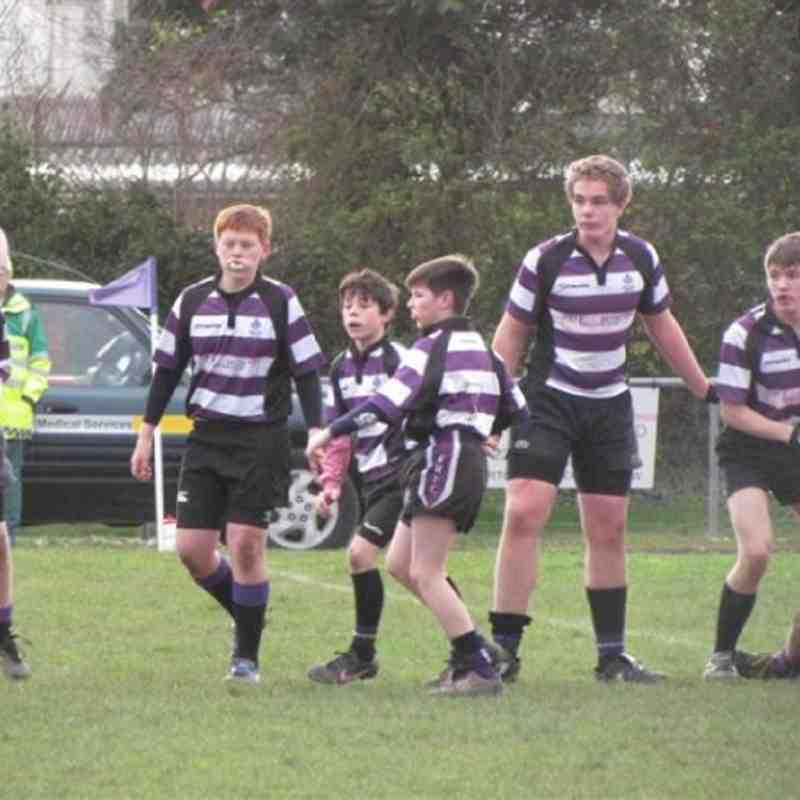 Under 13's V Sarries January 22nd 2012