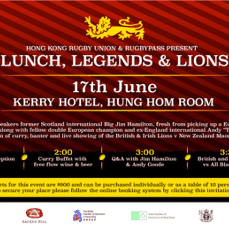Lunch, Legends & Lions