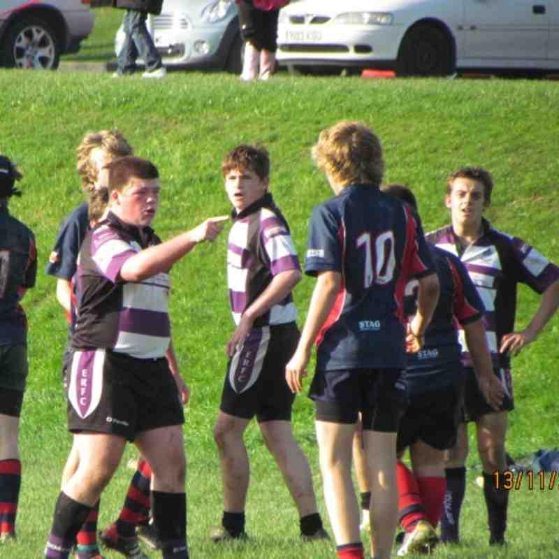 Under 15's vs Devonport Services 13/11