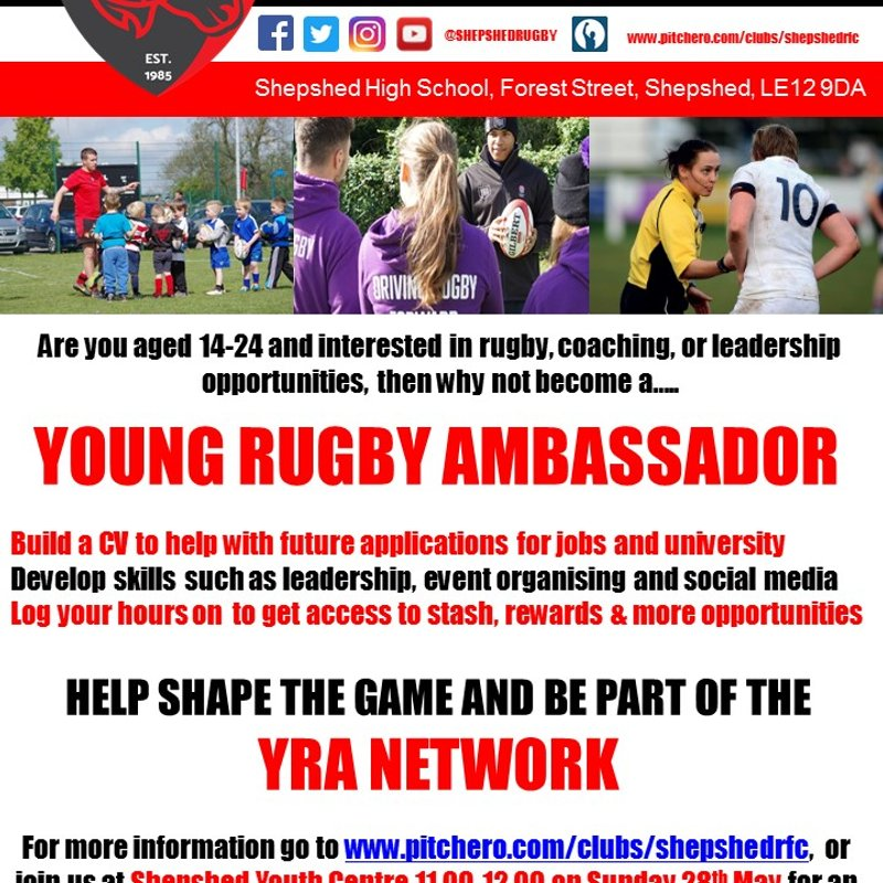 Shepshed RFC launch Young Rugby Ambassador Programme
