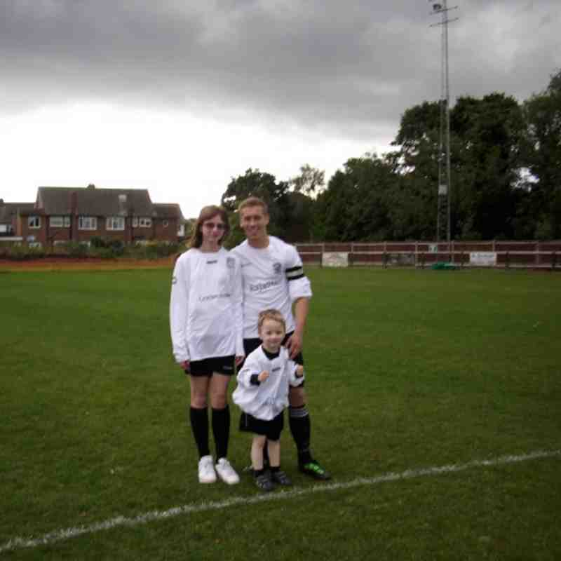 Molesey FC  Mascots Minnie Harry And Ryan McLoughlin