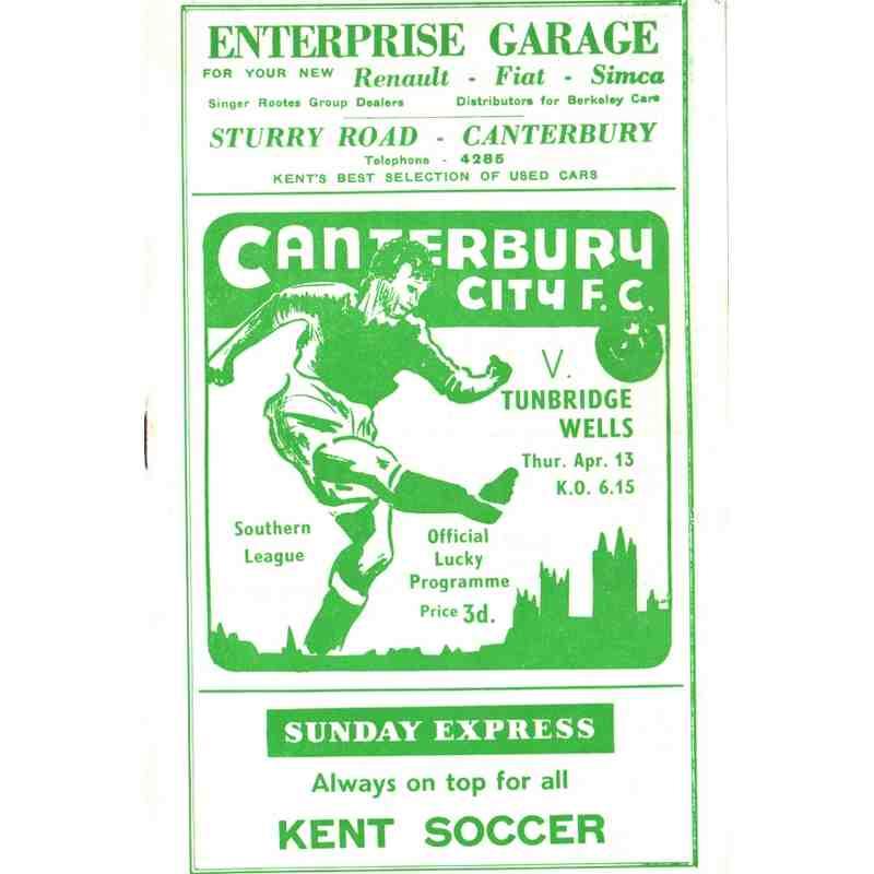 Canterbury City Programmes pre-1990